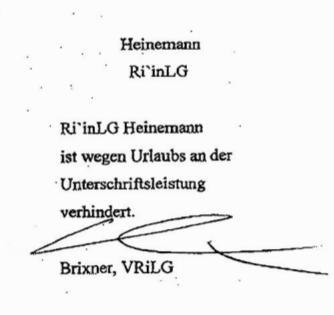 IV-Unterschrift
