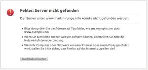 Webseite Martin Runge